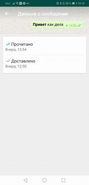 Советы пользователям WhatsApp: Время доставки и прочтения