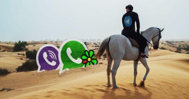 Дуров на коне, мессенджеры Viber, ICQ, WhatsApp, Telegram сравнение
