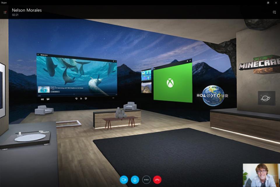вы можете делиться в Skype своим миром смешанной реальности