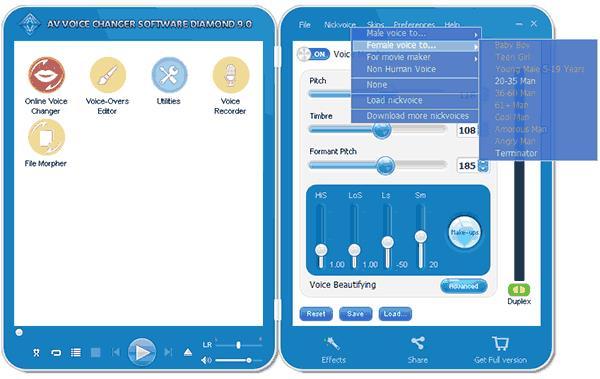 Программа AV Voice Changer Software Diamond