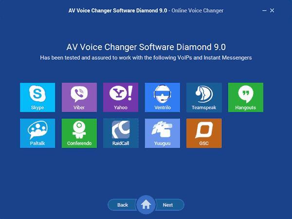 Изменение голоса онлайн в AV Voice Changer