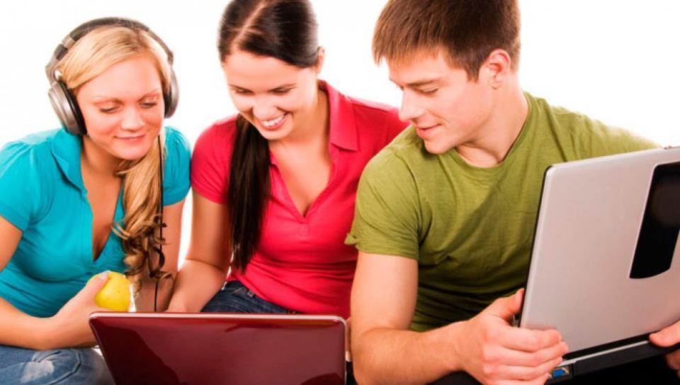 Друзья с ноутбуками