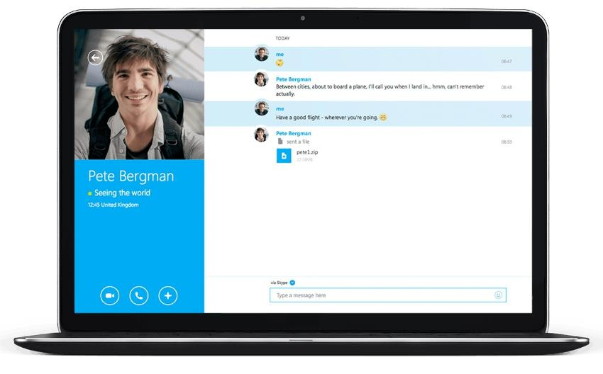 Skype Бесплатные звонки родным и близким