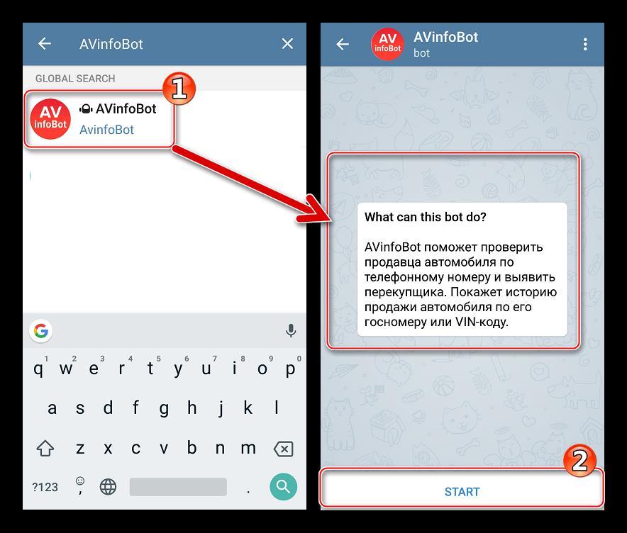 Запуск автобота AVinfobot в Telegram