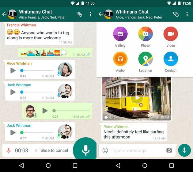 Групповые чаты в WhatsApp