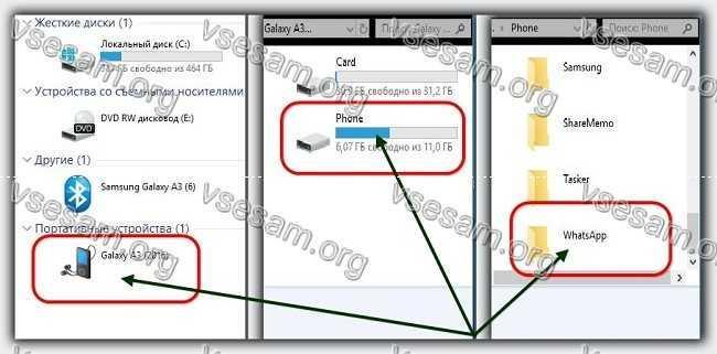 переместить сообщения whatsapp на компьютер