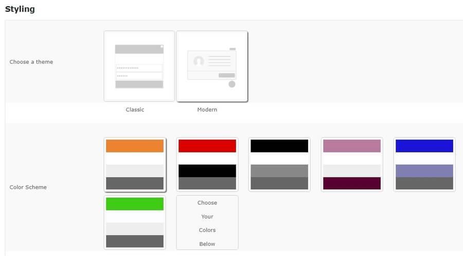 Выберите тему и цветовое оформление чата.