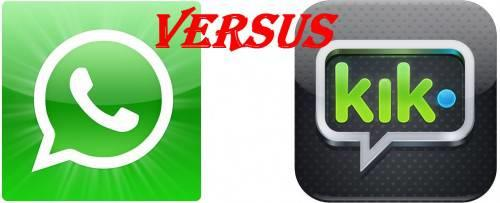 WhatsApp VS Kik