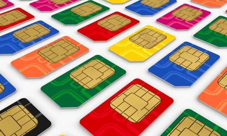 Разноцветные SIM-карты