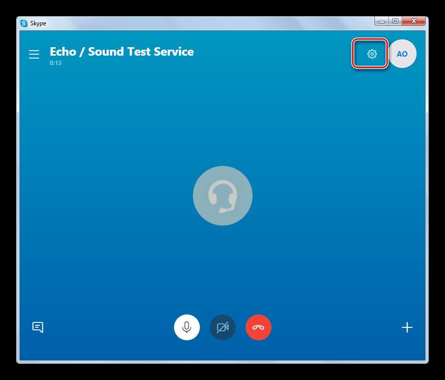 Переход в интерфейс и параметры звонков в Skype 8