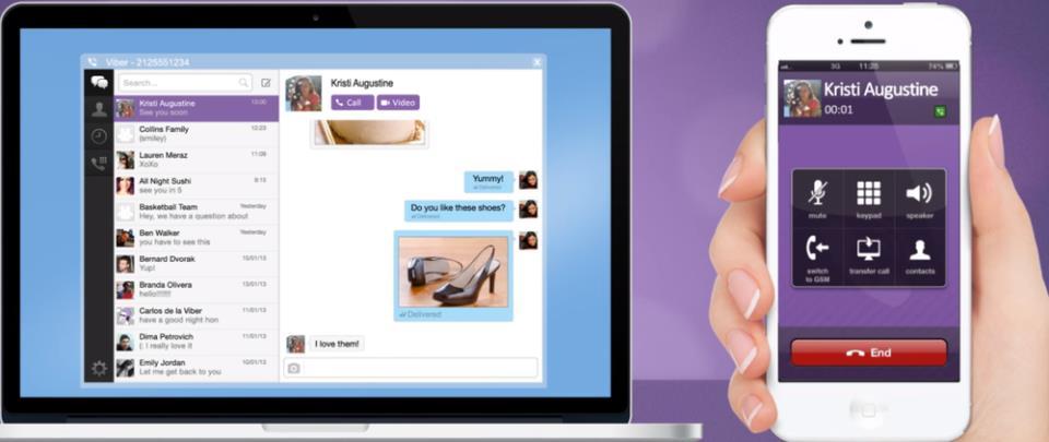 Возможности Viber для Windows