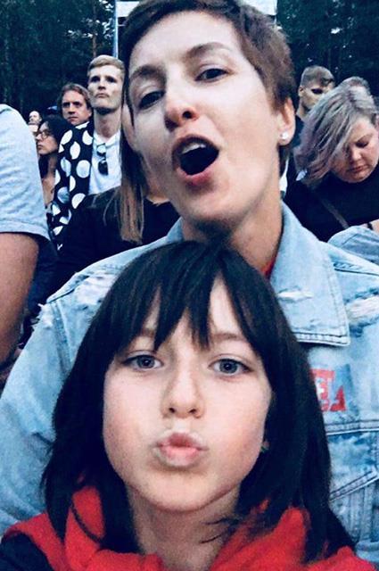 Юлия Панкратова с дочерью Соней
