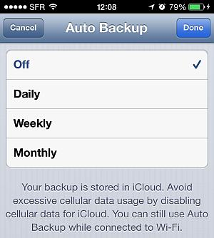 set whatsapp autobackup interval