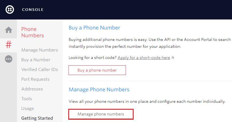 управление телефонными номерами