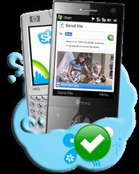Скачайте иустановите намобилку Skype длямобильных телефонов сWindows Mobile