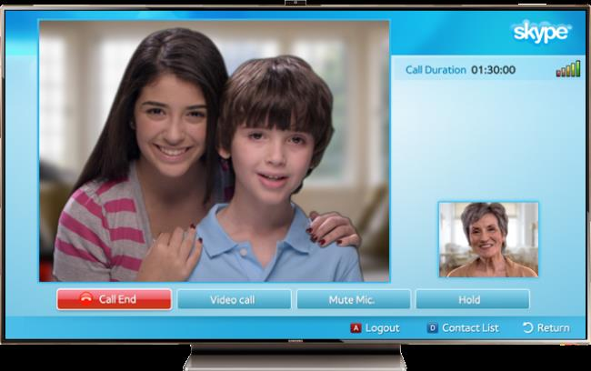 Скайп на телевизоре Самсунг (Smart TV)