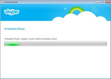 Процесс установки программы для общения Skype