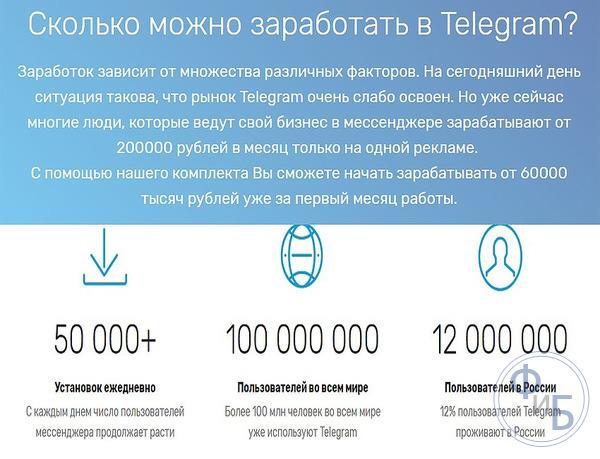 Сколько можно заработать в Телеграмм