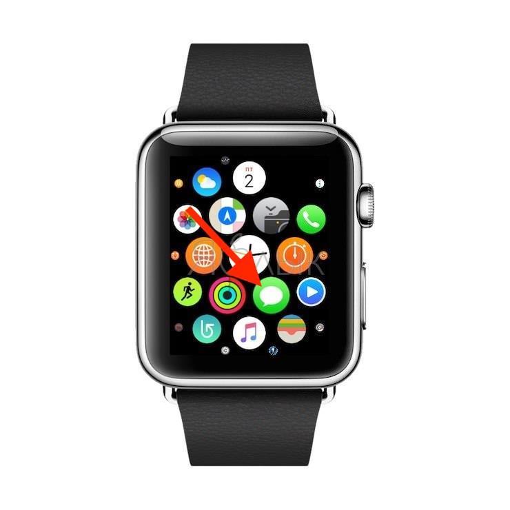 приложения Сообщения на Apple Watch