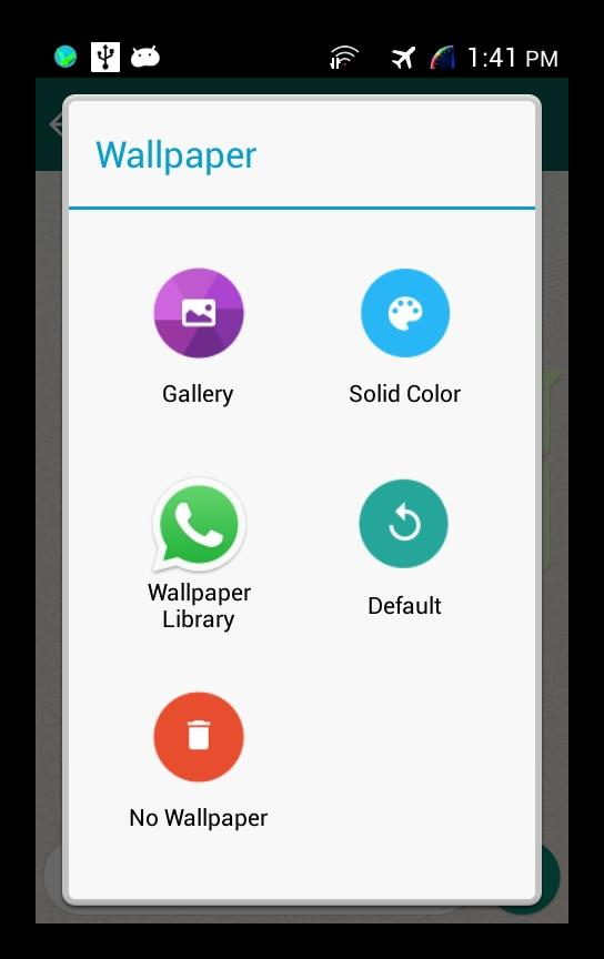 Выбираем вариант фона WhatsApp Mobile