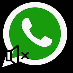 отключение звука и уведомлений WhatsApp