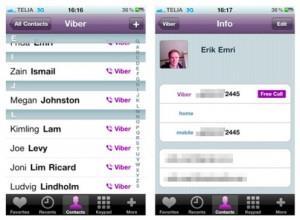 Синхронизация контактного листа на Viber