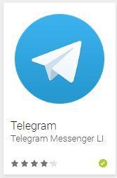 внешний вид телеграма